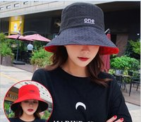 Wholesale black gold houndstooth scarf for sale - Group buy Wide brimmed fisherman hat for women black harajuku summer sun hat with double sided sunscreen