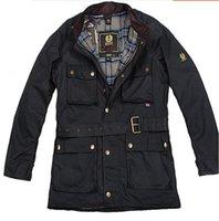 avrupa adamı uzun ceket toptan satış-Erkekler ceket Avrupa Amerika tarzı moda Yeni kaplama Uzun bölüm su geçirmez Gevşek yaka Saf renk Uzun kollu ceket Coats