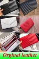 sacs à main uniques achat en gros de-Sacs à main designer en peau de mouton caviar chaîne en métal or argent sac à main designer sac à main en cuir véritable couverture Flip épaule diagonale sacs avec boîte