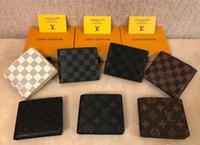 geldbeutelhalter großhandel-2018 marke Männer Brieftasche Aus Echtem Leder Kurze Geldbörse Mode Haspe Brieftasche Für Männer mit Kartenhalter Fotohalter