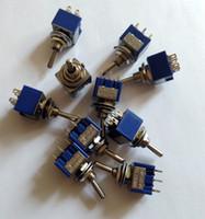 kippschalter großhandel-10 STÜCKE Mini DPDT Schalter Toggle 6Pin EIN / AUS / EIN 3A-250VAC 6A 120VAC