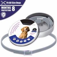 ingrosso prendersi cura dei cani-Anti-insetto Collare per cani Anti Flea Acaro Acari Zanzare Cane Collare per cani Cinghie per cani Regolabile Pet Supplies Salute Caring LJJA2335
