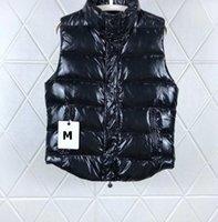 etiquetas de tamanhos venda por atacado-Casaco com capuz Mens Designer Down Vest Pattern Carta de luxo com Tag Etiqueta Casual inverno quente Jaquetas Marca Womens Parkas Asiático Tamanho 3 Estilo