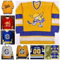 ingrosso indossare jersey da hockey-Uomini su misura WHA Minnesota Fighting Saints Mike Walton Wayne Connelly Gioco Worn Ted Hampson Terry Ball Jack Carlson Ray McKay Hockey Jersey