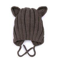 çocuk kulaklıklar toptan satış-2019 kış yeni bebek örgü sıcak etkilidirler çocuk şapka