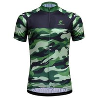 Wholesale factory jerseys for sale - Group buy Camouflage Cycling Jersey Men Short Sleeve Cycling Clothing Bike Jersey Factory Directly Sales