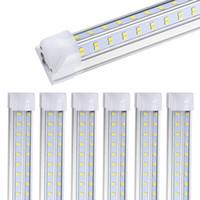 Wholesale gs shop resale online - 40PCS ft LED Shop Light Fixture W lm Clear Lens Cover Double Side rows V Shape Integrated Bulb Lamp LED Cooler Door Light