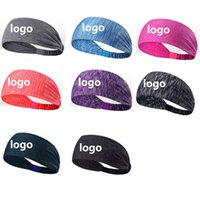 Wholesale yoga works for sale - Group buy Custom Logo Sport Headband Yoga Headband Elastic Headbands Working Out Gym Hair Bands for Sports Fitness DHL Shipping