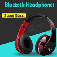 hafif ses toptan satış-Blutooth Büyük Casque Ses Akülü Kablosuz Kulaklık Kulaklık Auriculares Bluetooth Kulaklık Bilgisayar Kafa Telefon PC Için Mic Ile
