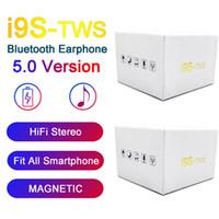 carga de fone de ouvido bluetooth venda por atacado-I9S TWS 5.0 fone de ouvido fone de ouvido estéreo TWS Earbuds para todos Telefone Com carregamento Box sem fios Bluetooth Headphone