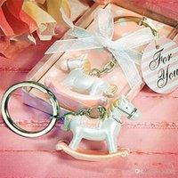 ingrosso bambini in resina per la vendita-Resina Baby Shower Favori portachiavi Trojan Horse Key Buckle Cartoon Anello portatile Celebrazione del matrimonio delicato Key Buckles Vendita calda 3 5dlE1