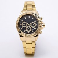 ingrosso 36 rs guarda-relogio masculino mens orologi Luxury fashion designer di moda quadrante nero calendario bracciale oro chiusura pieghevole Master Male 2021 regali coppie