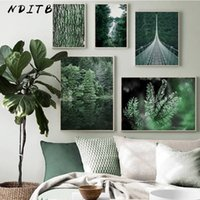 Wholesale landscape posters for sale - Group buy Forest Waterfall Bridge Landscape Picture Scandinavian Poster Scenery Nature Canvas Wall Art Print Painting Nordic Decoation