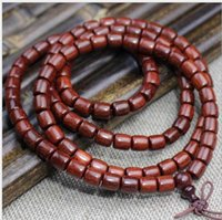 Wholesale agate barrel beads for sale - Group buy Manufacturers Zambia blood sandalwood bracelets beads beads old material mahogany barrel beads men and women jewelry
