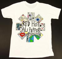 pimentão vermelho venda por atacado-Homens Red Hot Chili Peppers Calções Causal Anthony Kiedis dos homens de Verão de Manga Curta Impresso O-pescoço T-shirt de Algodão Gola Redonda