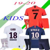 Wholesale paris uniforms for sale - Group buy 19 Maillots de football Kids kit PSG soccer jersey Paris MBAPPE ICARDI jersey camisetas de futbol shirt psg kids sets uniform