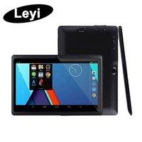 ingrosso macchina fotografica doppia capacitiva android-Q8 7 pollici tablet PC A33 Quad Core Allwinner Android 4.4 KitKat capacitivo da 1,5 GHz 512 MB di RAM 4GB ROM WIFI doppia fotocamera torcia Q88 mq50