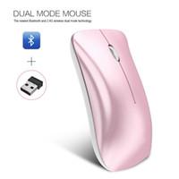 ingrosso bluetooth per il desktop-T23F Mouse Bluetooth senza fili USB 2.4G Ricarica portatile Computer desktop Mouse da gioco Dual Mode Gioco Ergonomia Mouse