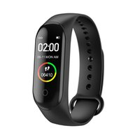 elma izci toptan satış-Akıllı bant M4 Bilezik Nabız spor izci Renkli Ekran Bluetooth M4 Akıllı bilezik spor akıllı Bileklik APP FitPro bağlamak