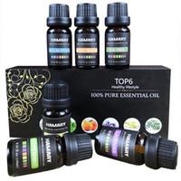 doğal aroma toptan satış-Uçucu Yağ Seti Saf Doğal Bitki Aroma Terapötik Aromaterapi Difüzör Nemlendirici Suda Çözünür Masaj Esansiyel Yağı