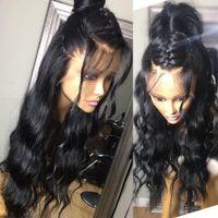 ingrosso grande parrucca afro dei capelli umani-Parrucca sintetica ondulata grande parrucca sintetica capelli lunghi parrucca sintetica parrucca piena di capelli umani parrucche afro-americane ricci ondulati