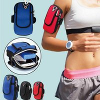 Wholesale waterproof phone holder online – Waterproof Arm Band Bag Holder Sport Armband Phone Pouch Running Brassard Universal Case Gym Sport Armband D0E2