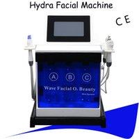mikrocurrent maschine zu hause großhandel-Hydrafacial Dermabrasion Maschine Sauerstoff Pflege Microdermabrasion Diamant Wasser Haut Tiefenreinigung Microcurrent Facelift Maschine Heimgebrauch