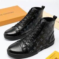 deri dövmeli toptan satış-Moda Ayakkabı Dövme Maç-Up Sneaker Boot Yüksek Top Erkek Footwears erkek Rahat Ayakkabılar Moda Deri Zapatos de hombre Sıcak Satış