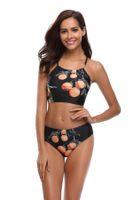 spaß sommerkleider großhandel-Reizvolle Frauen-Badebekleidung trennt die Frucht 3D, die Bikini-Badebekleidungswasserspaßkleidersommer-Strandkleid gedruckt wird freies Verschiffen