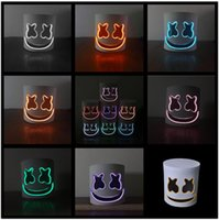 Wholesale girls mask cosplay resale online - LED DJ marshmello mask christmas Halloween Cosplay Headgears Bar Music helmet Props many lights colors EVS Masks