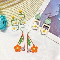ingrosso gioielli di fiori acrilici-Orecchini pendenti con fiori eleganti Gioielli moda donna Regali con ciondoli Orecchini pendenti in acrilico stile Corea