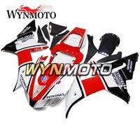 yamaha yzf kunststoff-kit großhandel-Motorradverkleidungen für Yamaha YZF 1000 R1 2002 2003 Schwarz-Rot-Kits Weiß yzf 1000 r1 02 03 ABS-Kunststoff-Einspritzmotorradabdeckungen