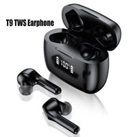 Wholesale newest waterproof cell phones for sale - Group buy Newest T9 TWS Wireless Bluetooth Earphones Charging Case LED Display Waterproof Earphone Auto Pairing Transmission Distance F9