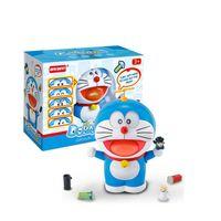 boneca gato doraemon venda por atacado-2019 Novo Doraemon Jingle Cat Figura de Ação Bonito Expressão Sorriso Robô Gato Decoração Do Carro Crianças Toy Presente Filme Mudar a Cara Boneca