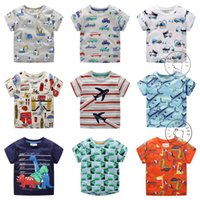 Wholesale boys car shirts for sale - 2019 Summer Boys T shirts Cotton Tops Tees Cartoon Cars Boys clothes Short sleeve T T T T T T In stock