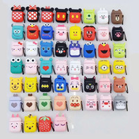 Wholesale airpods 2 case online – custom with Key chain cute D Cartoon Pattern earphone bags For apple airpods soft TPU Case For airpods Wireless Earbuds tpu Protective cover