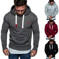 Wholesale sports clothes online - Men Long Sleeve Drawstring Hoodies Casual Street Sport Pullover Fashion Sweater Jackets Coat Sportwear Jumper Mens Clothes TTA522