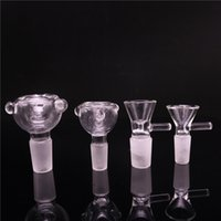 Wholesale tobacco bongs for sale - Group buy 14mm mm Herb Slide Dab Pieces Glass Bowls Dry Herb Bowl Tobacco bowls Ash Catcher for Glass Bongs Water Pipes Dab Rig