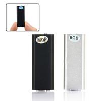 4gb reproductor de mp3 wav mini al por mayor-Profesional Mini 4GB 8GB 16GB Grabadora de voz Grabadora de audio digital Mini dictáfono Reproductor de MP3 USB Flash Drive Gravador de voz