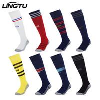 erwachsene röhrensocken großhandel-Fußball Socken Erwachsene Kinder Basketball Fußball Socken Sommer Design Ausbildung lange Röhre Polyester Baumwolle Sport Elite Socke Läufer