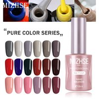 Wholesale yellow gold nails resale online - MIZHSE Nail Gel Varnish ML Soak Off UV LED Nail Gel Pure Color Paint Enamal For Manicure Fashion Art Design