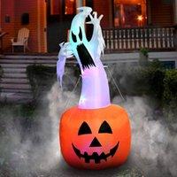 ingrosso saltare decorazioni-Halloween gonfiabile zucca all'aperto Spaventoso Colpo Decorazioni Halloween Party gonfiabile in zucca Up gonfiabili Witch Decor Props