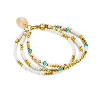 Wholesale boho beads for sale - Group buy Bohemian Starfish Pendant Anklets For Women Stone Beads Shell Anklet Bracelets On Leg BOHO Ocean Jewelry