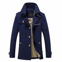 мужская одежда оптовых-Тан новый мужской Jaqueta Masculino мужчины зимняя куртка мода британский стиль бренд одежды ветровка теплая куртка пальто