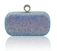 Wholesale hard glitter clutch bags online - 2019 latest illusion Grate hand with Korean version Original design lady dinner banquet factory direct bag