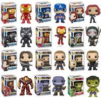 soldados modelo al por mayor-Funko Pop Avengers 3 Iron Man Capitán América Viuda Negra Soldado de Invierno Modelo Figura Colección Modelo Regalos de Juguete Para Niños Y19051804
