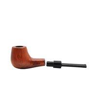 paquete de humo al por mayor-Juego de tubos para fumar de madera y tabaco Tubo de madera rojo Empaquetado sólido con accesorios para fumar Portátil Fácil de usar