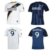 beckham galaxy jersey venda por atacado-LA Galaxy camisa de futebol 2019 ZLATAN IBRAHIMOVIC Jersey 19 20 Los Angeles Galaxy Camisa de manga longa GIOVANI BECKHAM maillot de pé