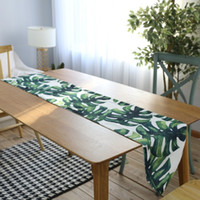 Wholesale table placemat for wedding for sale - Group buy Waterproof Table Runner chemin de table Runners Modern for Wedding Party Leaf Placemat European Camino De Mesa