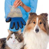 sihirli fırça hayvan tüyü toptan satış-Yeni Pet Temizleme Fırçası Köpek Tarak Silikon Eldiven Banyo Mitt Pet Köpek Kedi Masaj Epilasyon Bakım Sihirli Deshedding Eldiven